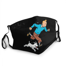 Load image into Gallery viewer, Tintin & Snowy Running - Reusable Washable Breathable Adjustable Face Mask