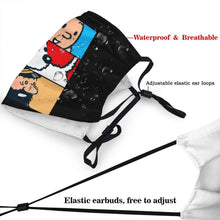 Load image into Gallery viewer, Tintin Snowy Haddock - Reusable Washable Breathable Adjustable Face Mask