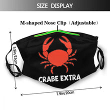 Load image into Gallery viewer, Crabe Extra - Reusable Washable Breathable Adjustable Face Mask (With Filters)