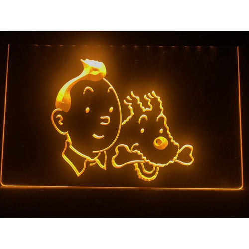 Stunning LED Neon Light Sign - Tintin And Snowy