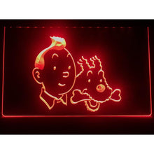 Load image into Gallery viewer, Stunning LED Neon Light Sign - Tintin And Snowy