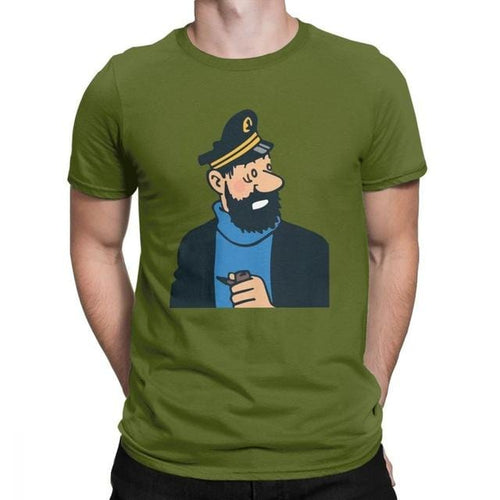 Awesome Captain Haddock - Soft 100% Cotton Tee