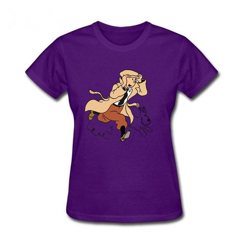 Tintin & Snowy Cute - Soft 100% Cotton Tee