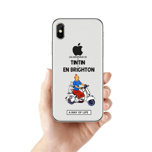 Tintin En Brighton - Soft Silicone iPhone Cover Case