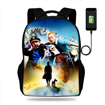 The Adventures of Tintin Movie Unisex USB Charger Backpack