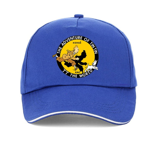 Unisex The Adventures of Tintin - 100% Cotton Snapback Cap