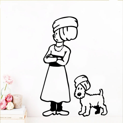 Tintin & Snowy Turban - Easy Peel and Stick Wall Stickers