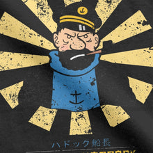Load image into Gallery viewer, Captain Haddock Retro Japanese - Soft 100% Cotton Tee