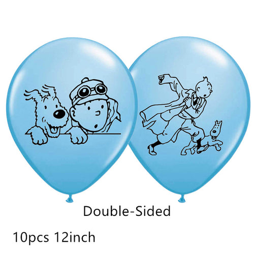 Colorful Double-Sided Children's Party Tintin Balloons