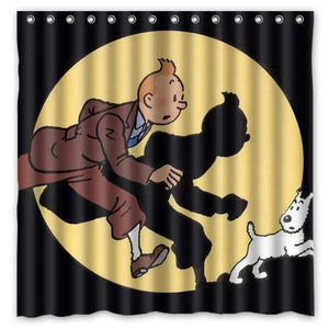 Tintin Spotlight - Waterproof Shower Curtain 100% Polyester (3 Sizes)
