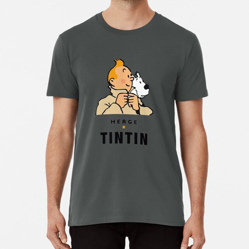 Tintin Herge - Soft 100% Cotton Tee