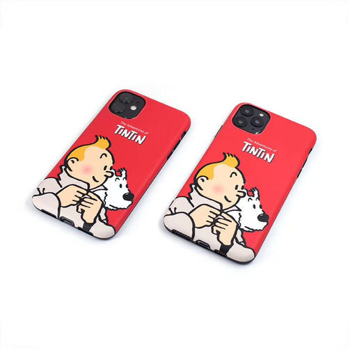 The Adventures of Tintin (Red) - Soft iPhone Cover Case