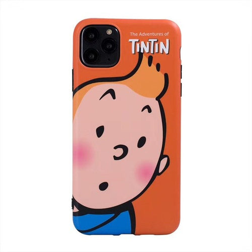 Classic Tintin Cartoon Face - Soft iPhone Cover Case