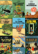 Load image into Gallery viewer, Tintin Comicbook Covers Collage - Decorative Posters