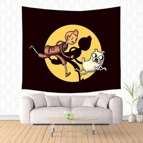 Tintin & Snowy Spotlight Funny - Decorative Wall Hanging Tapestry