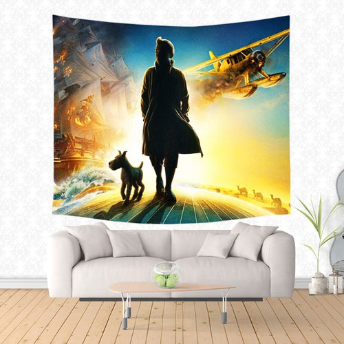 Tintin Movie - Decorative Wall Hanging Tapestry