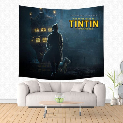 The Adventures of Tintin Movie - Decorative Wall Hanging Tapestry