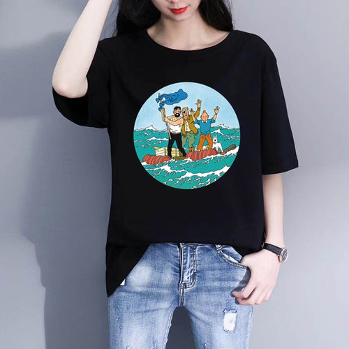 Tintin The Red Sea Sharks - Women's Soft Cotton Tee