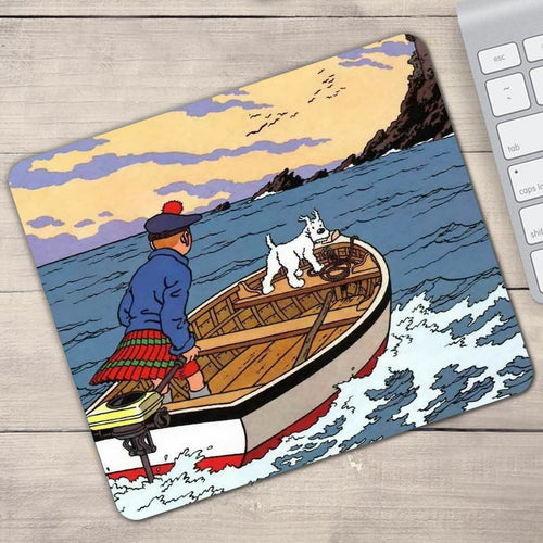 The Black Island Tintin Gaming - Anti-Slip Rubber Mouse Pad (2 Sizes)