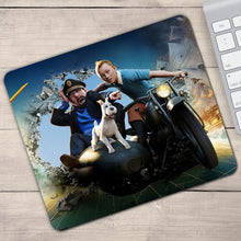 Load image into Gallery viewer, Tintin Movie Gamer - Anti-Slip Rubber Mouse Pad (2 Sizes)
