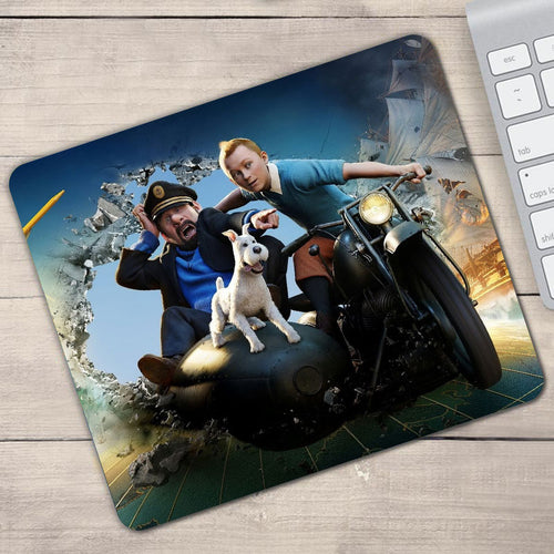 Tintin Movie Gamer - Anti-Slip Rubber Mouse Pad (2 Sizes)