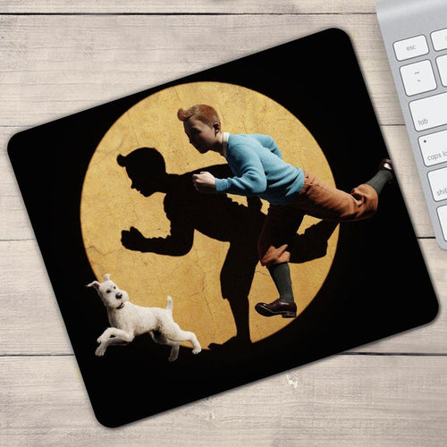 Tintin Spotlight Movie - Anti-slip Rubber Gamer Mouse Pad (2 Sizes)