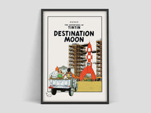 Load image into Gallery viewer, Destination Moon - Exhibition Cotton Canvas Poster