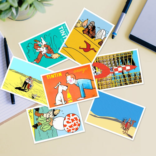Tintin Stunning Postcards (30 Pieces)