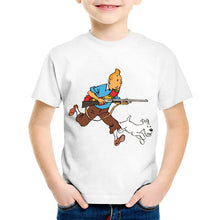 Load image into Gallery viewer, Tintin & Snowy Running - Unisex Children's Fashionable Tee