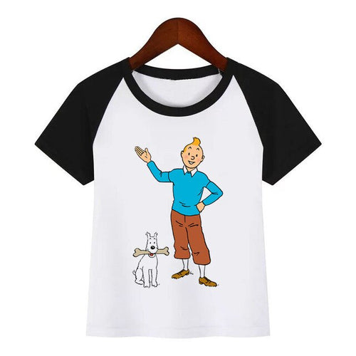 Tintin & Snowy Standing - Unisex Children's Summer Cotton Tee