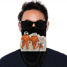 Load image into Gallery viewer, Tintin Astronaut - Balaclava Windproof Face Scarf (With Ear Hook)
