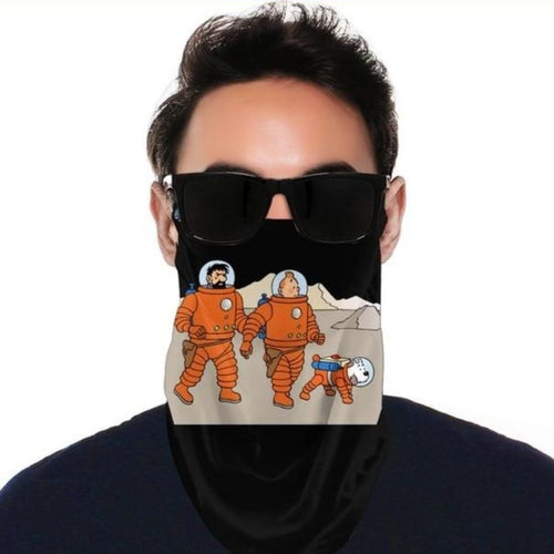 Tintin Astronaut - Balaclava Windproof Face Scarf (With Ear Hook)