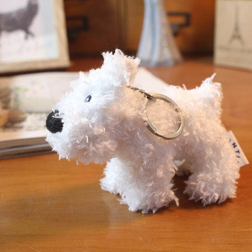 Fluffy Snowy Key Chain