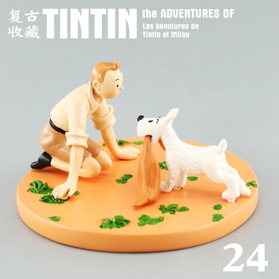 Tintin & Snowy Kneeling - Stunning Collectible Model