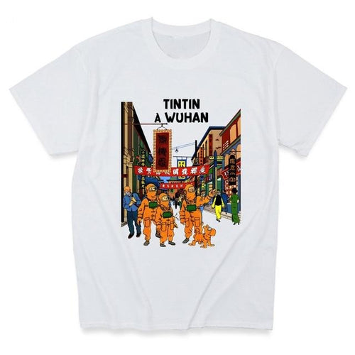 Tintin In Wuhan - Soft 100% Cotton Tee