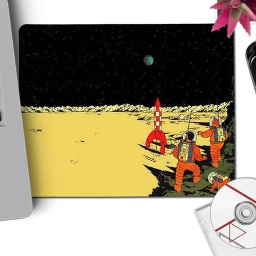 Explorers On The Moon - Anti-Slip Rubber Mouse Pad (29x25cm)