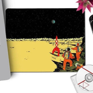 Explorers On The Moon - Anti-Slip Rubber Mouse Pad (22x18cm)