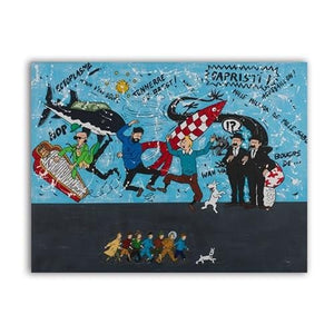 Limited Edition Tintin Canvas Poster