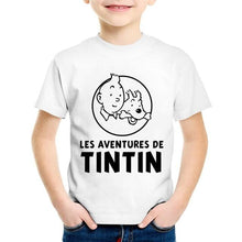 Load image into Gallery viewer, Children's Fashionable Tintin Soft 100% Cotton Tee