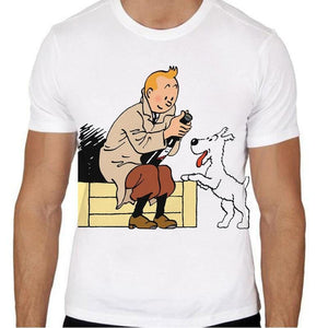 Tintin & Snowy Color - Soft 100% Cotton Tee