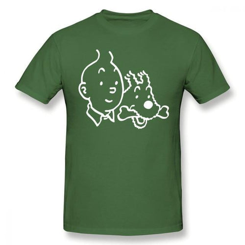 Tintin & Snowy - Soft 100% Cotton Tee