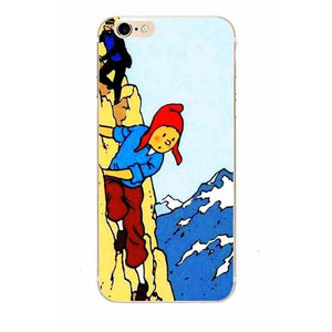 Tintin & Haddock Mountain - Matte Soft Shell iPhone Cover