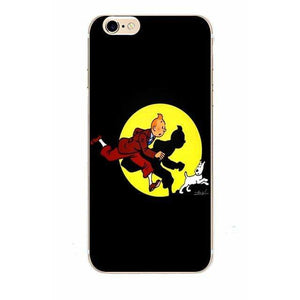 Tintin Spotlight - Matte Soft Shell iPhone Cover