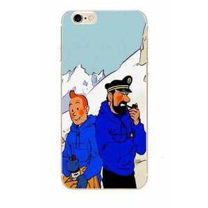 Tintin & Captain Haddock - Matte Soft Shell iPhone Cover