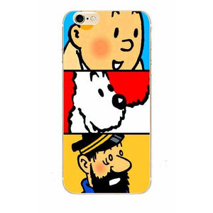 Tintin Snowy Haddock - Matte Soft Shell iPhone Cover