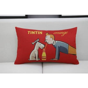 Tintin Orange Soft Pillow Cover - Limited Edition
