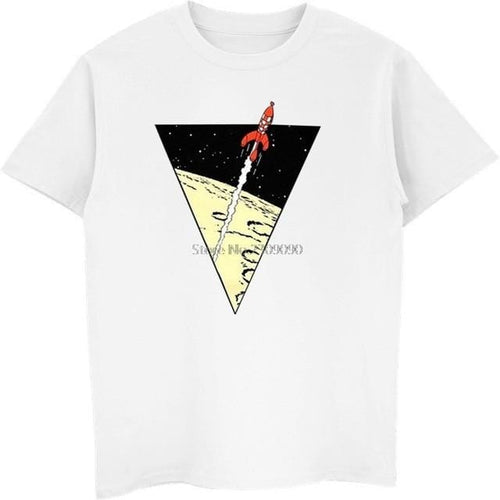 Tintin Rocket - Soft 100% Cotton Tee