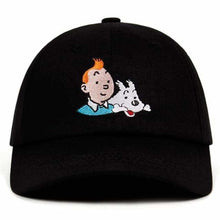 Load image into Gallery viewer, Unisex 100% Cotton Tintin Embroidered Baseball Cap