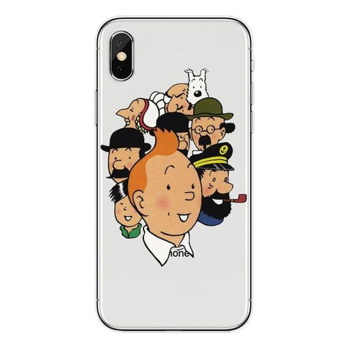 Tintin Family - Soft Silicone iPhone Cover Case