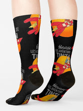 Load image into Gallery viewer, Herge Les Aventures Tintin Knit Crew Socks